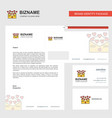 love letter business letterhead envelope and vector image