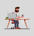 man have a break on work vector image