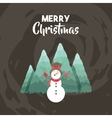 merry christmas snowman holiday december vector image