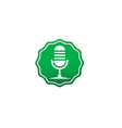 microphone and karaoke symbol logo design mic in vector image vector image
