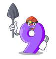 miner number nine balloon font shaped charcter vector image