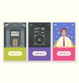 mobile bank banners set vector image vector image