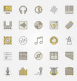 music colored icons or creative symbols vector image