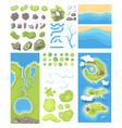 natural landscape - modern set of vector image vector image