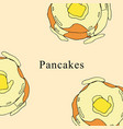 pancakes in cartoon style vector image