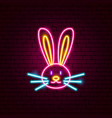 rabbit animal neon sign vector image vector image