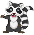 raccoon cartoon posing vector image vector image