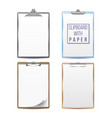 realistic clipboards set mock up for your vector image vector image