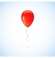 Red balloon isolated on white background vector image vector image