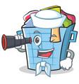 sailor laundry basket character cartoon vector image vector image