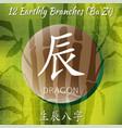 set of chinese feng shui hieroglyphs vector image vector image
