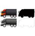 set truck vehicle vector image
