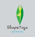 shape yoga vector image