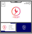 simple concept phonic logo vector image vector image