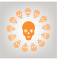 skull isolated on the background vector image