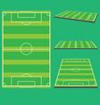 soccer field preview vector image vector image