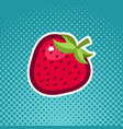 strawberry fruit icon design vector image vector image