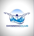 Swimming Design Logo vector image vector image