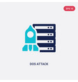 two color dos attack icon from cyber concept vector image vector image