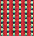 vintage rhombus seamless pattern vector image vector image