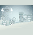 winter city night landscape vector image