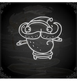 Hand Drawn Quirky Father Christmas vector image