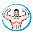 happy smiling bodybuilder vector image