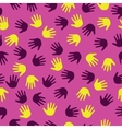 Seamless with hand prints vector image