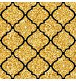 Golden Tile Glitter Background - Seamless Pattern vector image