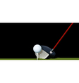 A club and a ball vector image