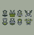 a set of emblems badges logos of a military vector image vector image