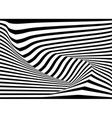 abstract 3d stripe line background vector image