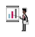 african speaker doing business presentation vector image