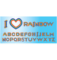 Alphabet - rainbow letters vector image vector image