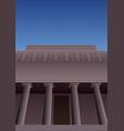 art deco museum 3 vector image vector image