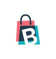 b letter shop store shopping bag overlapping