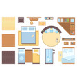 bedroom elements - set of modern objects vector image vector image