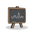 blackboard on a white background vector image vector image