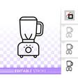 blender simple black line icon vector image