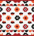 boho black red floral folk vector image