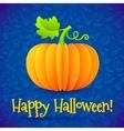 Bright Halloween orange paper pumpkin vector image
