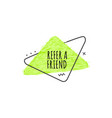 business referral offer lime badge vector image vector image