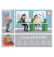 call center colorful composition vector image