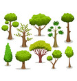 cartoon tree collection vector image vector image