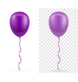 celebratory purple transparent balloons pumped vector image vector image