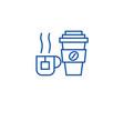 coffee mug tea cup line icon concept coffee mug vector image vector image