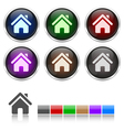 Colorful honeycomb home icon vector image vector image