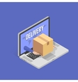 Concept for fast Online delivery service vector image vector image