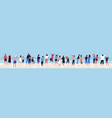 crowd relaxed people contemplating sea or ocean vector image vector image