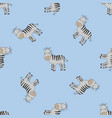 cute zebras seamless patern vector image